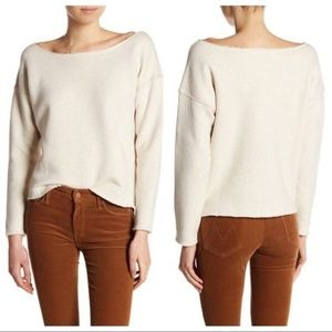 MOTHER The Raw Wide Neck Sweatshirt Size L
